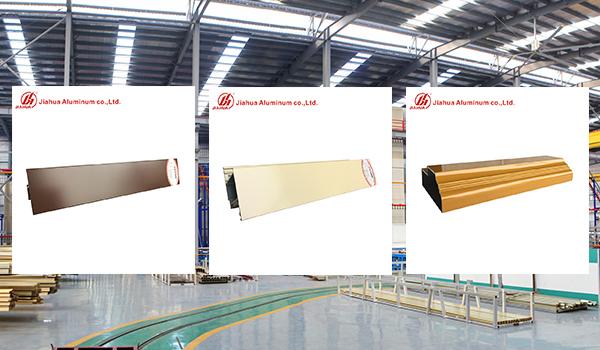6063 Perfiles de extrusión de aluminio con recubrimiento en polvo